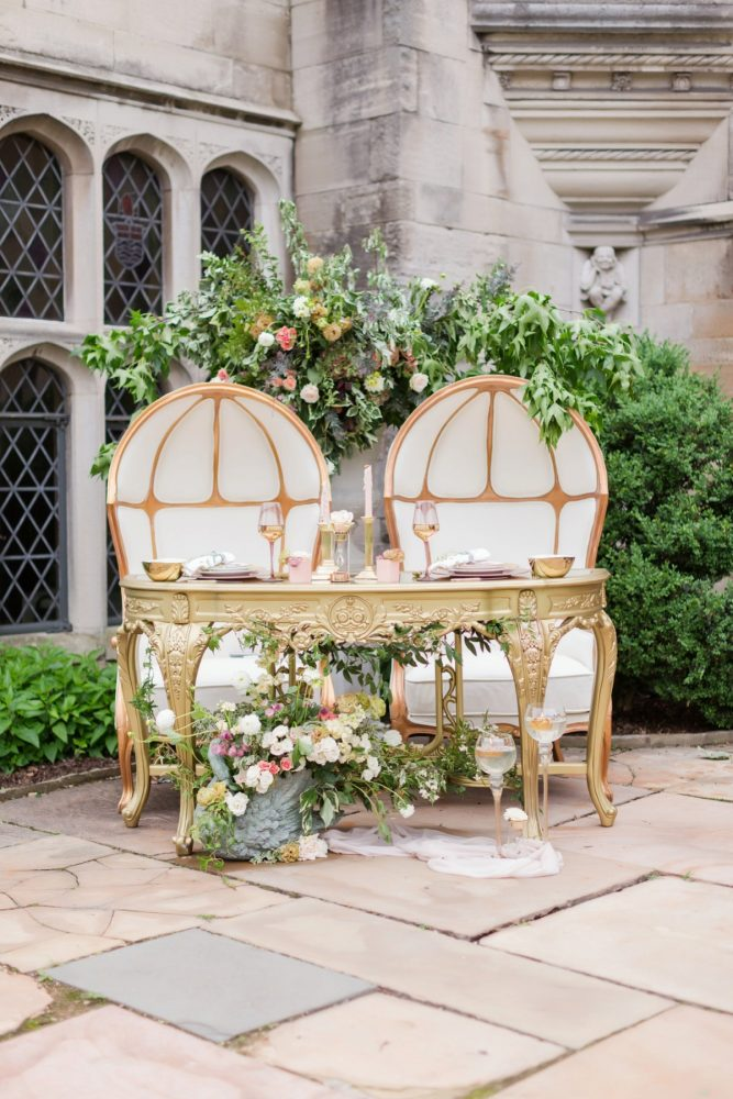 Wedding sweetheart table ideas: English Garden Wedding Inspiration from Hello Productions and April Smith Photography featured on Burgh Brides