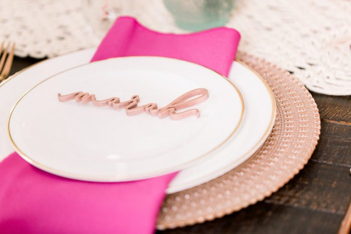 Custom Name Seating Card: Girly Cactus Themed Bridal Shower Inspiration from Olive & Rose Events and Abbie Tyler Photography featured on Burgh Brides