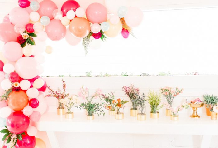 Make Your Own Flower Crown Bar: Girly Cactus Themed Bridal Shower Inspiration from Olive & Rose Events and Abbie Tyler Photography featured on Burgh Brides