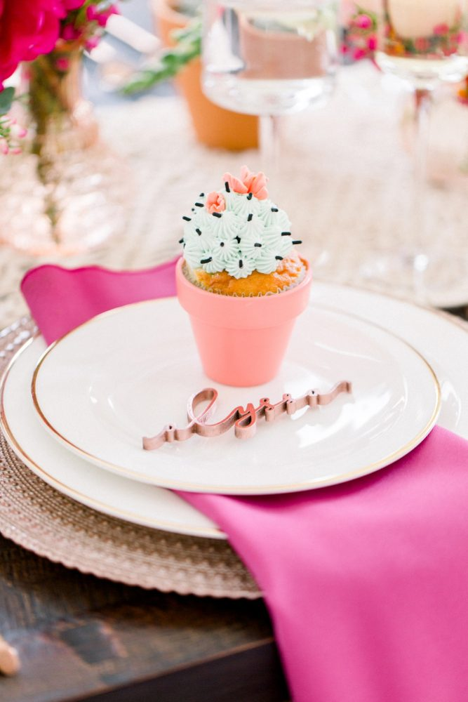 Cactus Cupcake: Girly Cactus Themed Bridal Shower Inspiration from Olive & Rose Events and Abbie Tyler Photography featured on Burgh Brides
