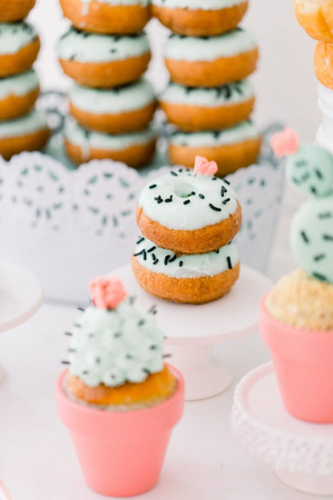 Cactus desserts: Girly Cactus Themed Bridal Shower Inspiration from Olive & Rose Events and Abbie Tyler Photography featured on Burgh Brides