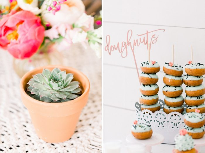 Desert Themed Bridal Shower: Girly Cactus Themed Bridal Shower Inspiration from Olive & Rose Events and Abbie Tyler Photography featured on Burgh Brides