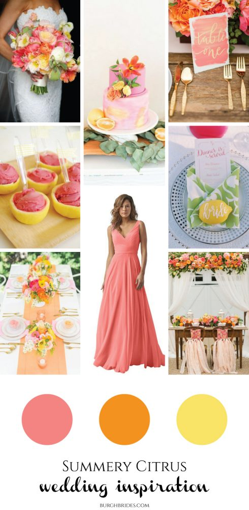 Citrus Wedding Inspiration for Every Summer Bride from Burgh Brides!