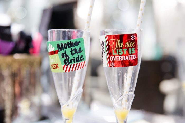 Mother of the Bride Champagne Flute: Magical Christmas Wedding at the George Washington Hotel from Weddings by Alisa featured on Burgh Brides