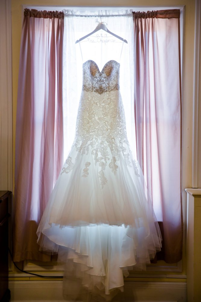 Sweetheart Neckline Wedding Dress: Magical Christmas Wedding at the George Washington Hotel from Weddings by Alisa featured on Burgh Brides