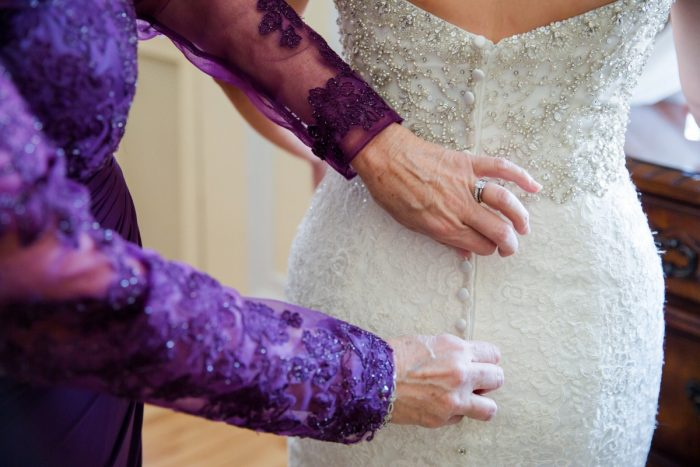 Button Back Wedding Dress: Magical Christmas Wedding at the George Washington Hotel from Weddings by Alisa featured on Burgh Brides