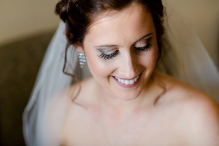 Smokey Eye Bridal Makeup: Magical Christmas Wedding at the George Washington Hotel from Weddings by Alisa featured on Burgh Brides