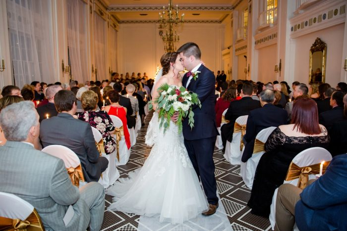 Candlelight Wedding Ceremony: Magical Christmas Wedding at the George Washington Hotel from Weddings by Alisa featured on Burgh Brides