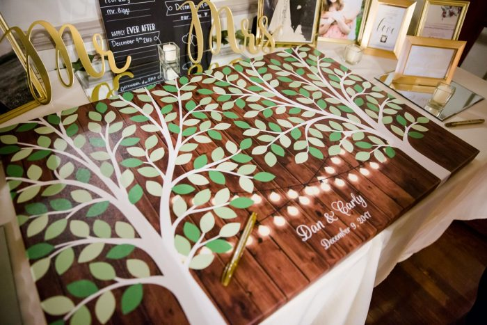 Tree Wedding Guest Book: Magical Christmas Wedding at the George Washington Hotel from Weddings by Alisa featured on Burgh Brides