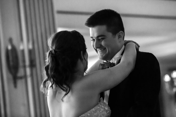Bride and Groom First Dance: Magical Christmas Wedding at the George Washington Hotel from Weddings by Alisa featured on Burgh Brides