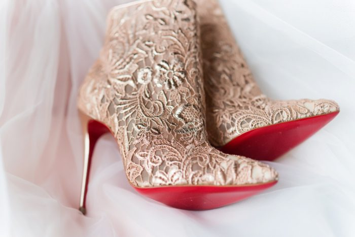 Louboutin Wedding Shoes: Girly & Glamorous Wedding at Oakmont Country Club from Leeann Marie Photography featured on Burgh Brides