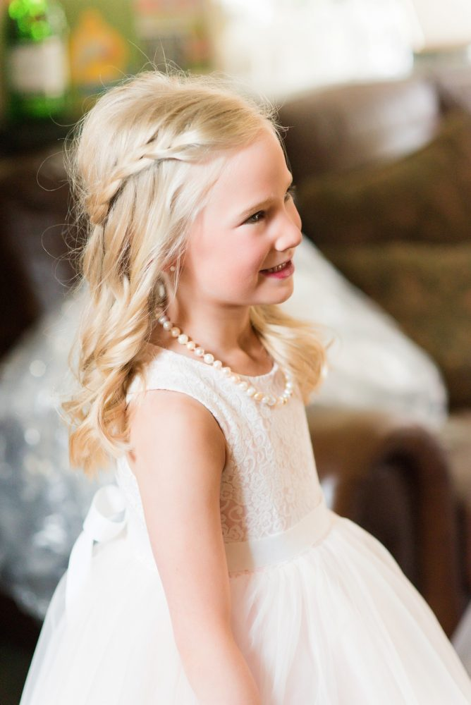 Flower Girl Dress: Girly & Glamorous Wedding at Oakmont Country Club from Leeann Marie Photography featured on Burgh Brides