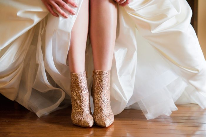Christian Louboutin Wedding Shoes: Girly & Glamorous Wedding at Oakmont Country Club from Leeann Marie Photography featured on Burgh Brides