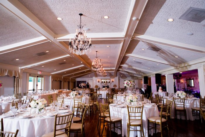 Rose Gold Wedding Decor: Girly & Glamorous Wedding at Oakmont Country Club from Leeann Marie Photography featured on Burgh Brides