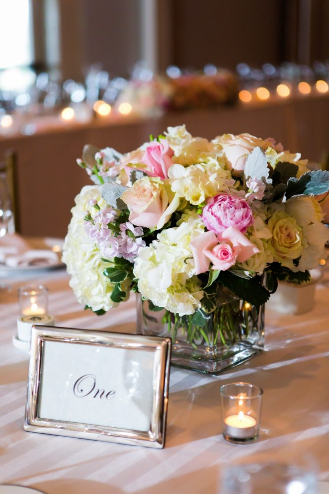 Pink and White Wedding Flowers: Girly & Glamorous Wedding at Oakmont Country Club from Leeann Marie Photography featured on Burgh Brides