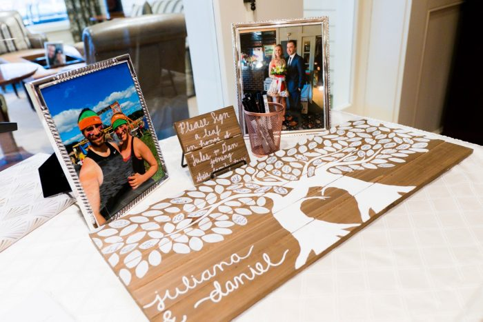 Tree Wedding Guest Book: Girly & Glamorous Wedding at Oakmont Country Club from Leeann Marie Photography featured on Burgh Brides