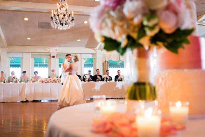 Bride and Groom First Dance: Girly & Glamorous Wedding at Oakmont Country Club from Leeann Marie Photography featured on Burgh Brides