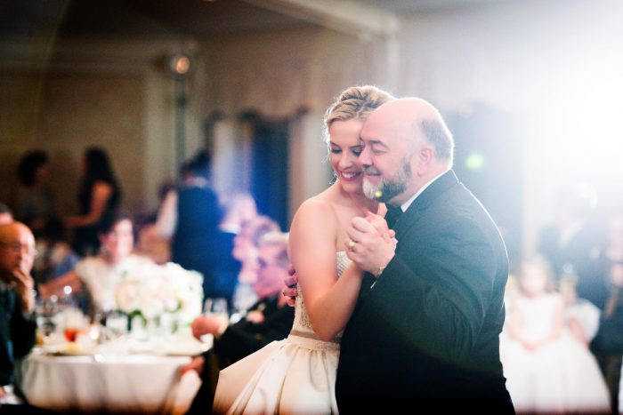 Father Daughter Dance: Girly & Glamorous Wedding at Oakmont Country Club from Leeann Marie Photography featured on Burgh Brides
