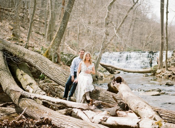 Nature inspired engagement session. See more engagement photo ideas at burghbrides.com.