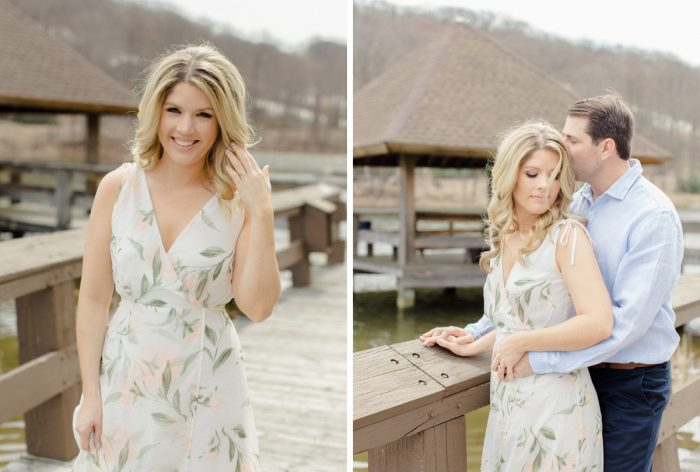 Pretty engagement photo hair and makeup ideas. See more engagement photo ideas at burghbrides.com.