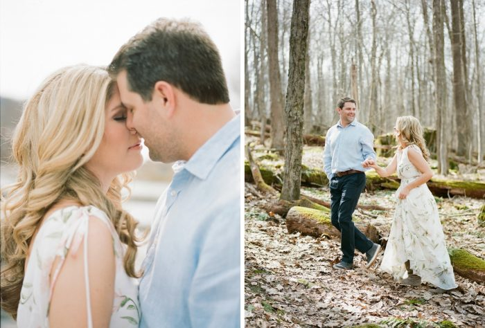 Laid back engagement photo session ideas. See more engagement photo ideas at burghbrides.com.