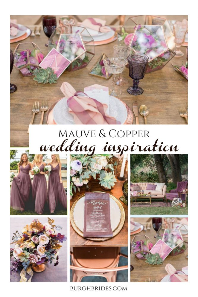 Copper & Mauve Wedding Inspiration from Burgh Brides