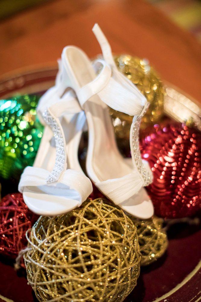 Rhinestone Bridal Shoes: Warm December Embassy Suites Wedding from Dorosh Documentaries featured on Burgh Brides