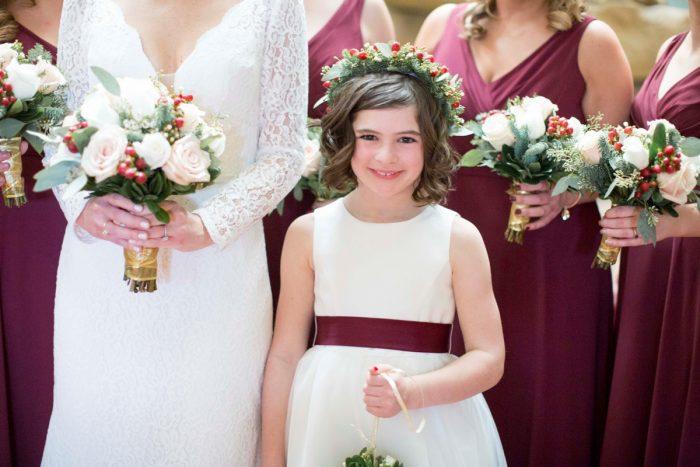 Flower Girl Ideas: Warm December Embassy Suites Wedding from Dorosh Documentaries featured on Burgh Brides
