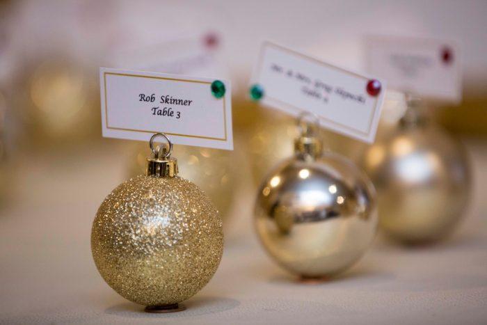 Christmas Wedding Escort Cards: Warm December Embassy Suites Wedding from Dorosh Documentaries featured on Burgh Brides