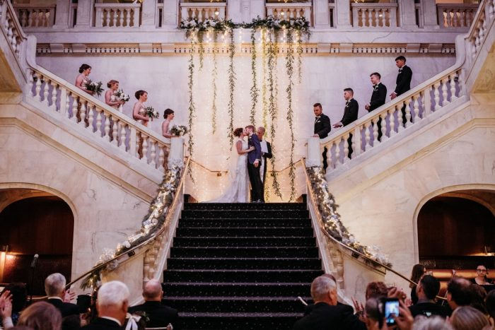 Pittsburgh Renaissance Hotel wedding: Art Deco New Years Eve Pittsburgh Renaissance Hotel Wedding from Tyler Norman Photography featured on Burgh Brides