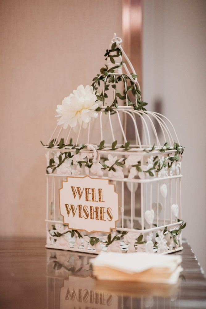 Art deco wedding card box: Art Deco New Years Eve Pittsburgh Renaissance Hotel Wedding from Tyler Norman Photography featured on Burgh Brides