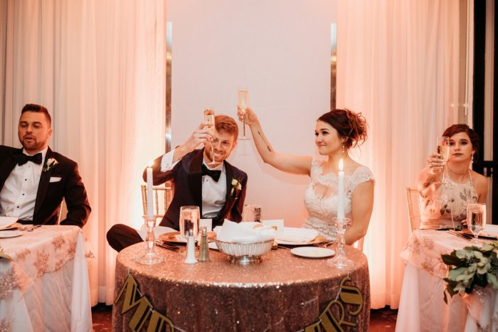 Art Deco New Years Eve Pittsburgh Renaissance Hotel Wedding from Tyler Norman Photography featured on Burgh Brides