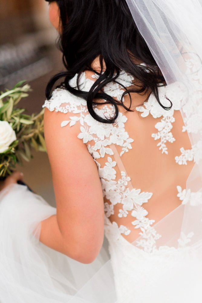 Lace Back Wedding Dress: Amalfi Coast Inspired Wedding at The Pennsylvanian from Bumbleburgh Events & Leeann Marie Photography featured on Burgh Brides