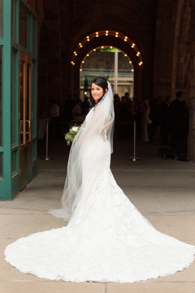 Bride in Cathedral Length Veil: Amalfi Coast Inspired Wedding at The Pennsylvanian from Bumbleburgh Events & Leeann Marie Photography featured on Burgh Brides