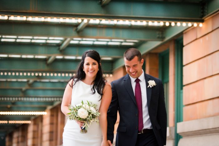 White and Green Bridal Bouquet: Amalfi Coast Inspired Wedding at The Pennsylvanian from Bumbleburgh Events & Leeann Marie Photography featured on Burgh Brides