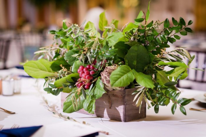 Italian inspired wedding centerpieces: Amalfi Coast Inspired Wedding at The Pennsylvanian from Bumbleburgh Events & Leeann Marie Photography featured on Burgh Brides