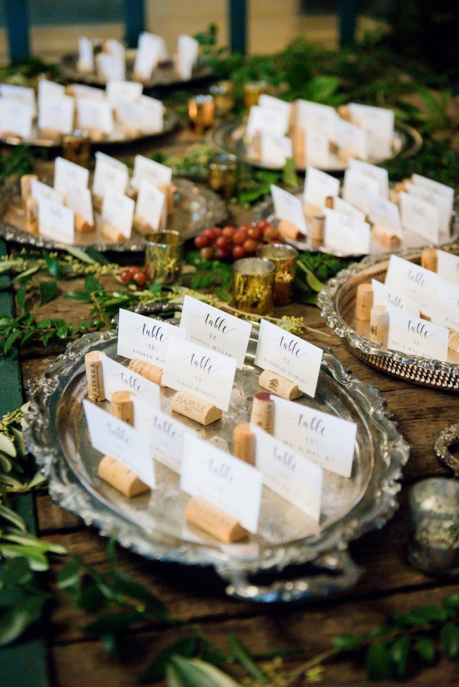 Wine inspired wedding escort cards: v