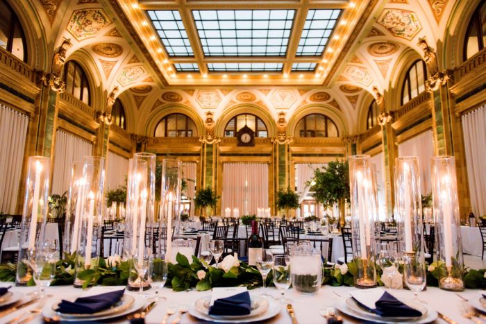 Glamorous wedding decor: Amalfi Coast Inspired Wedding at The Pennsylvanian from Bumbleburgh Events & Leeann Marie Photography featured on Burgh Brides