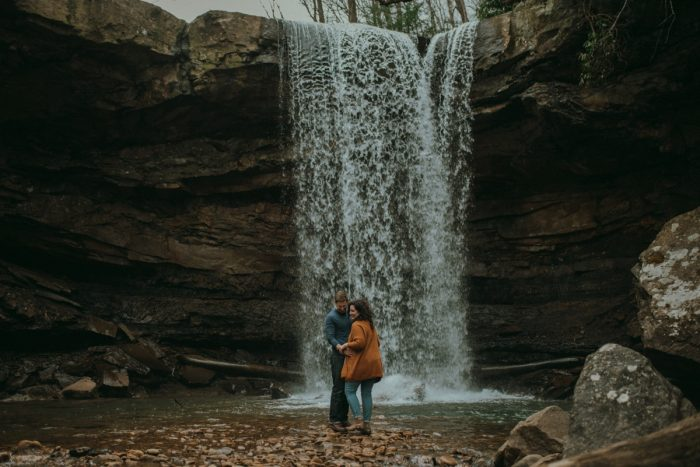 Breathtaking Ohiopyle Engagement Session from Whitling Photography featured on Burgh Brides