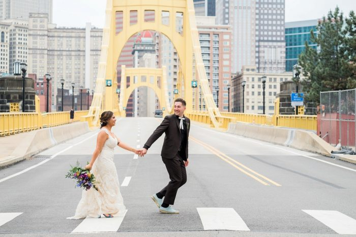 Pittsburgh Wedding Photos: Cool & Colorful Surprise Warhol Museum Wedding from Caitlin's Living Photography and Exhale Events featured on Burgh Brides