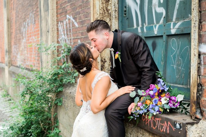 Cool & Colorful Surprise Warhol Museum Wedding from Caitlin's Living Photography and Exhale Events featured on Burgh Brides