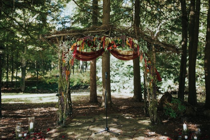 Outdoor Wedding Decor: FALL in Love with This Enchanting Fernstone Wedding from Oakwood Photo + Video featured on Burgh Brides