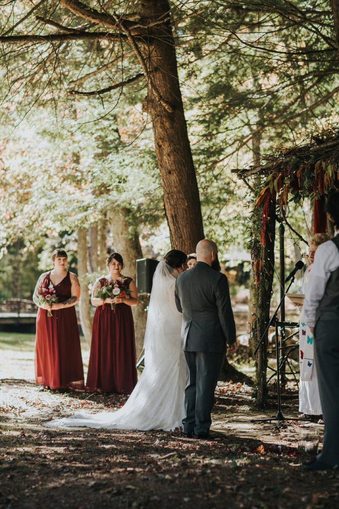 Outdoor Wedding Ceremony: FALL in Love with This Enchanting Fernstone Wedding from Oakwood Photo + Video featured on Burgh Brides