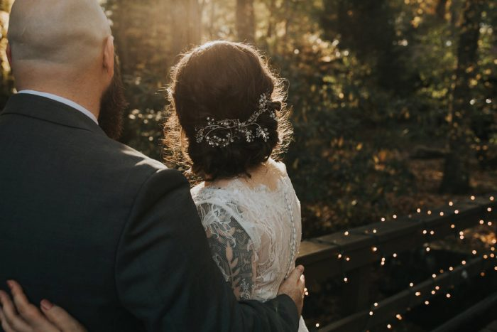 Bridal Hair Piece: FALL in Love with This Enchanting Fernstone Wedding from Oakwood Photo + Video featured on Burgh Brides