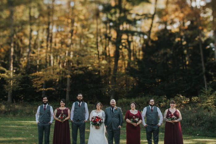 Gray and Burgundy Wedding Colors: FALL in Love with This Enchanting Fernstone Wedding from Oakwood Photo + Video featured on Burgh Brides