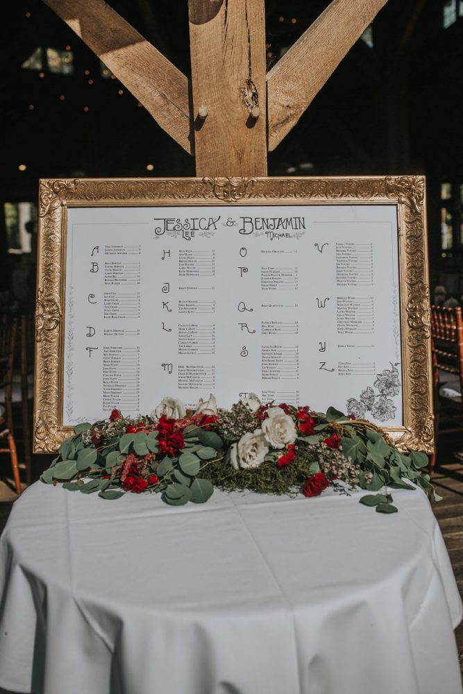 Wedding Seating Chart: FALL in Love with This Enchanting Fernstone Wedding from Oakwood Photo + Video featured on Burgh Brides