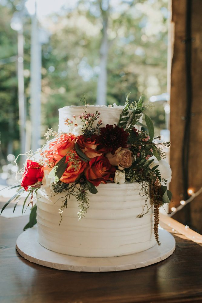 Wedding Buttercream Cake: FALL in Love with This Enchanting Fernstone Wedding from Oakwood Photo + Video featured on Burgh Brides