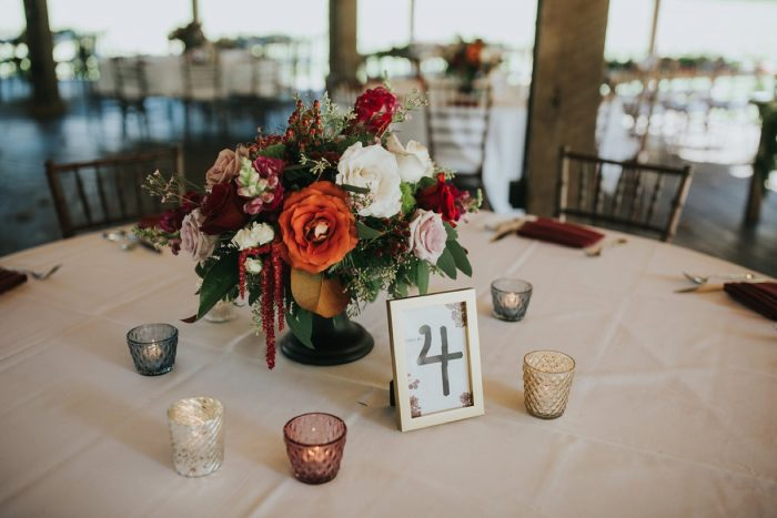 Fall Wedding Centerpieces: FALL in Love with This Enchanting Fernstone Wedding from Oakwood Photo + Video featured on Burgh Brides