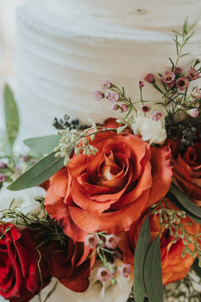 Fresh Flowers on Wedding Cake: FALL in Love with This Enchanting Fernstone Wedding from Oakwood Photo + Video featured on Burgh Brides
