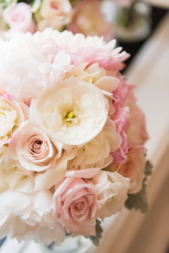 Blush Pink Bridal Bouquet: Elegant Spring Omni William Penn Wedding from Leeann Marie Photography featured on Burgh Brides